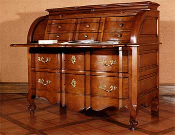 commode bureau à cylindres
